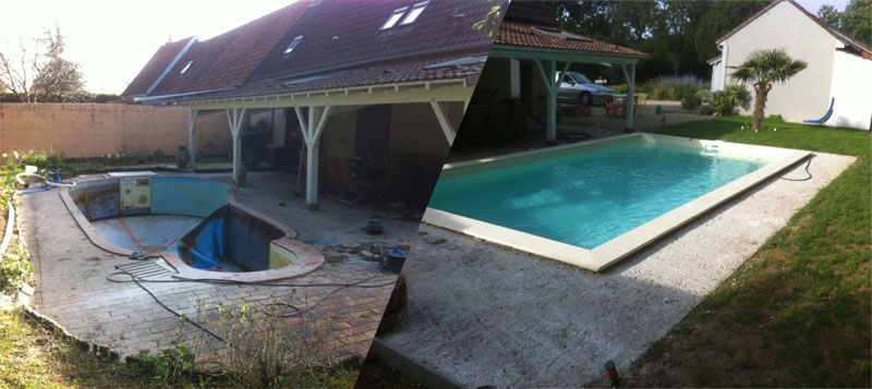 Rénovation d'une vieille piscine en dur